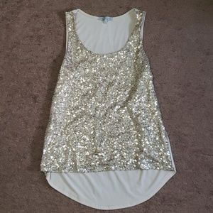 Womens sparkly tank
